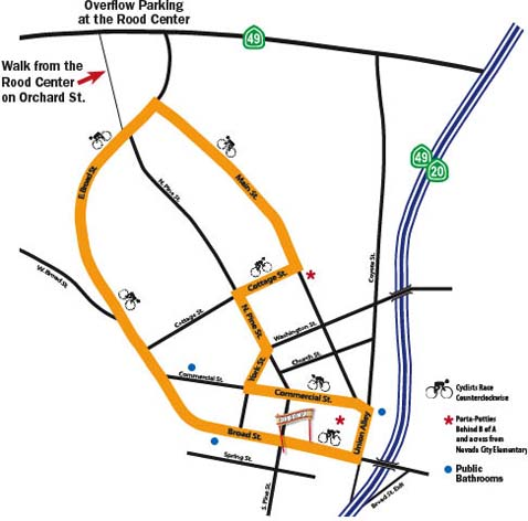 nevada city classic bike race map