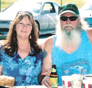 "Carl ""Big Daddy"" Spotts and his wife, Jackie, Duke and Duchess, 2011 Nevada City Mardi Gras"