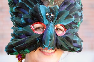 Kim Welllman of the Nevada City Chamber is ready for Mardi Gras.  Are you?