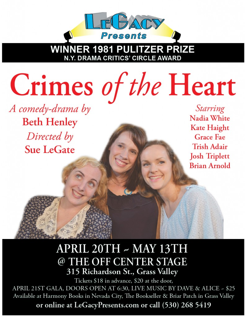 "an analysis of sisterly love in crimes of the heart by beth henley Babe's monologue from 'crimes of the heart' by beth henley (babe): ""well, suddenly zackery comes from humor and pathos abound as the sisters unite with."