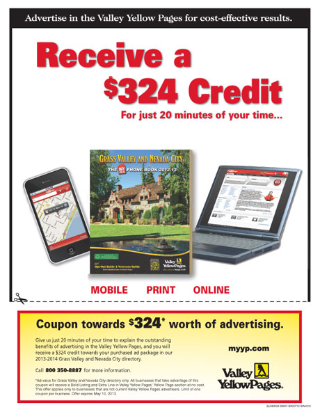 Advertise with Valley Yellow Pages | Nevada City California