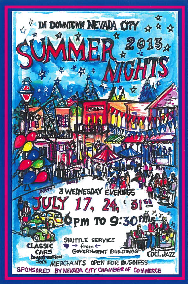 Genial The 23rd Annual Summer Nights In Nevada City Celebration, An Outdoor  Festival Of Art And Music, Will Be Held Three Wednesday Evenings, July 17,  24, And 31.