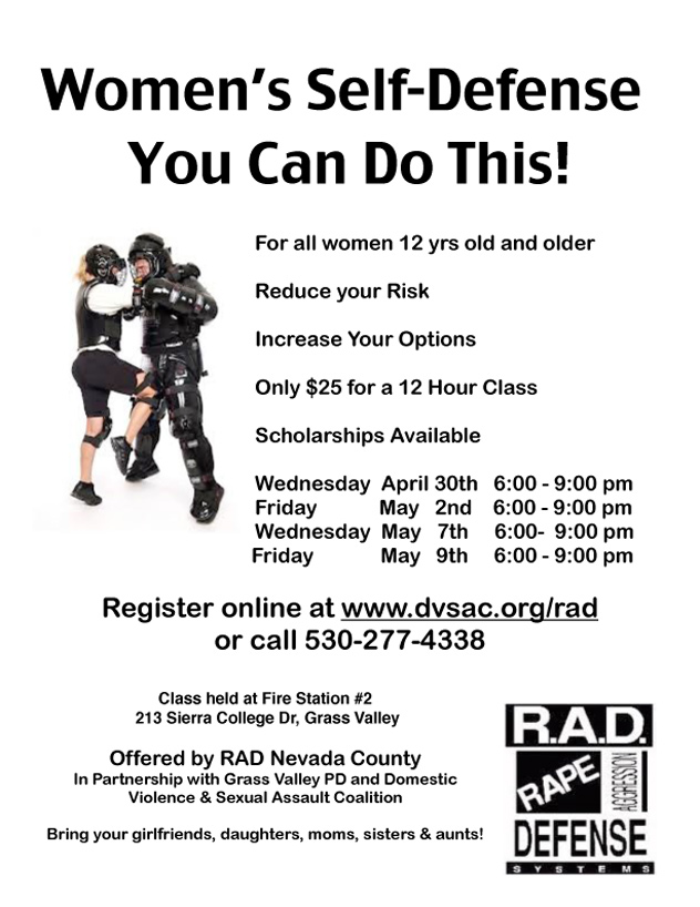 Self Defense Brochure Rad Self Defense Classes For