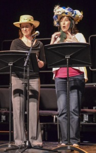 Nancy Haffey and Kim Wellman in a prior Theater by the Book Reading