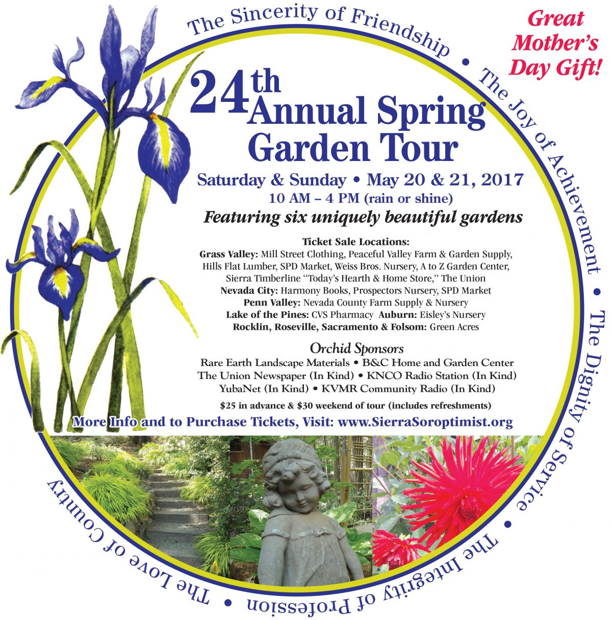 U201cThe Roth Estate Is Honored To Have Been Asked To Open Our Gardens For The  Soroptimist Of The Sierra Foothills 24th Annual Garden Touru201d. Garden List U0026  Map