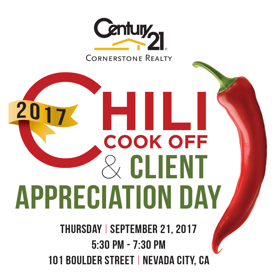 2017 Chili Cook Off & Client Appreciation Day at Century 21 Cornerstone Realty | Nevada City California