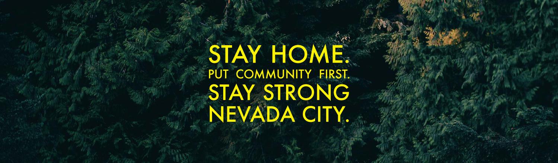 stay home nevada city header