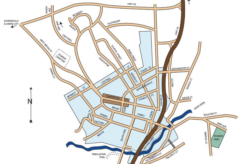 nevada city map
